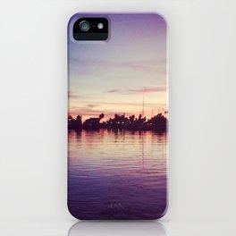 santa barbara harbor sunset  iPhone Case