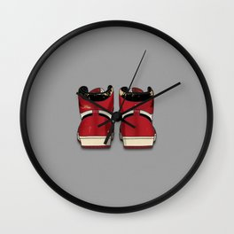 """The Beaters"" Print Grey Wall Clock"
