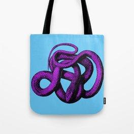Snek 4 Snake Purple Blue Tote Bag