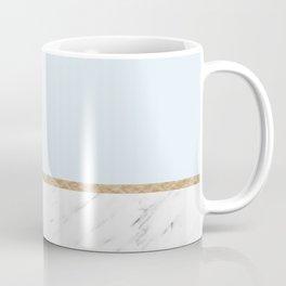 Duck egg blue marble Coffee Mug