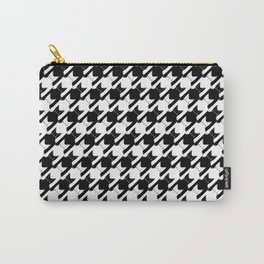 cats-tooth in black and white (houndstooth pattern) Carry-All Pouch