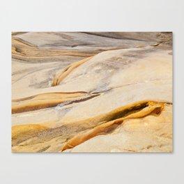 Multi-coloured rocky terrain Canvas Print