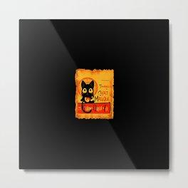 Chat Magique Metal Print