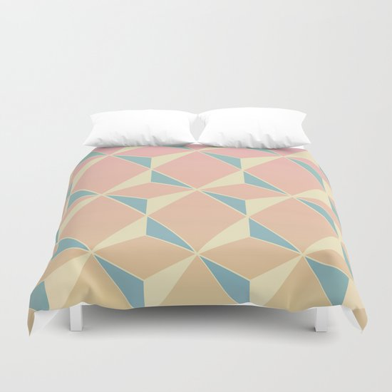 Triangles and Squares XI Duvet Cover