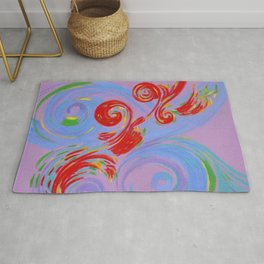 Painted Music Rug