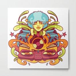 Bubble Gum Funk Metal Print