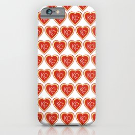 KC Love Red & Yellow iPhone Case