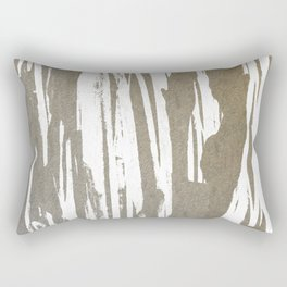 Abstract Taupe Splash Design Rectangular Pillow