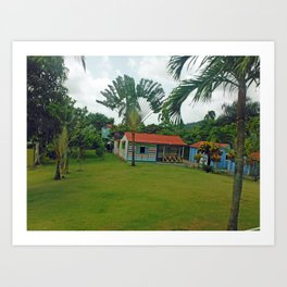 House in Dominican Republic Art Print