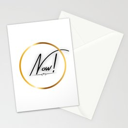 Now! | Motivational | Motivational quote | Do it now! | Large Size | Motivational words Stationery Cards