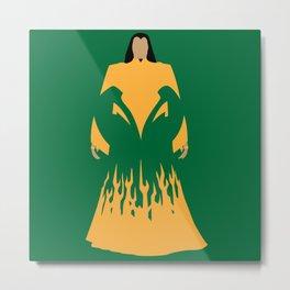 The mandarin villain cartoons green yellow Metal Print