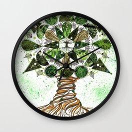 Tree of LIfe Mandala Wall Clock