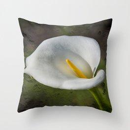 White Lily Throw Pillow