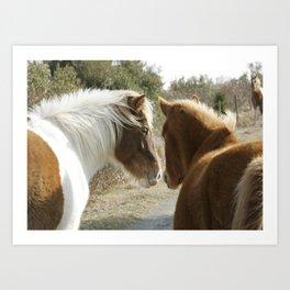 Horse Conversations Art Print