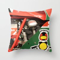 ducati Throw Pillows featuring Ducati Motor by Internal Combustion