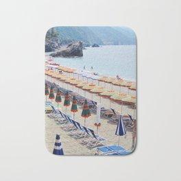 Cinque Terre beach parasols Bath Mat