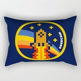 DogeCoin Up Rocket Rectangular Pillow