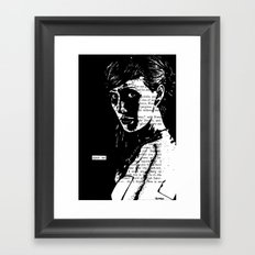 Spare Me Framed Art Print