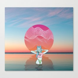 Sunset Over Vallarta Canvas Print