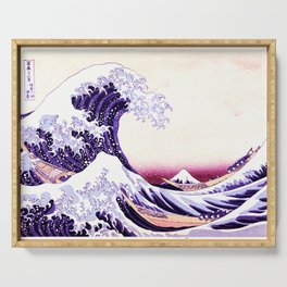 The Great wave purple fuchsia Serving Tray
