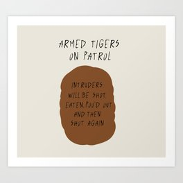 Armed Tigers - wider Art Print