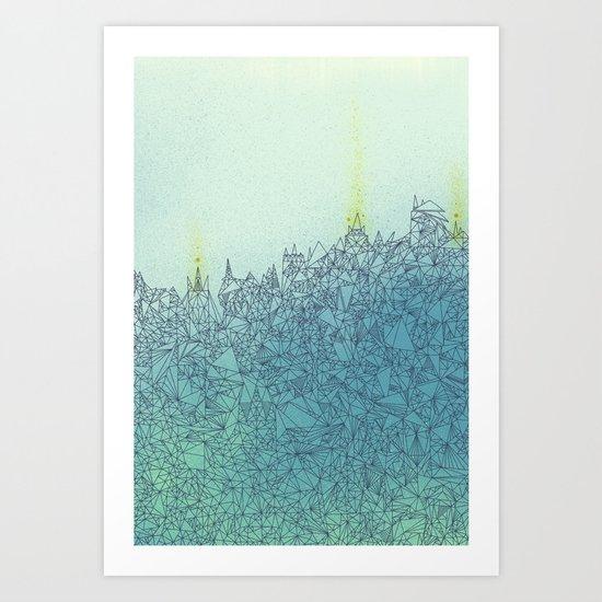 A Quiet Raft Art Print