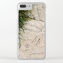 Archaic Writing Clear iPhone Case