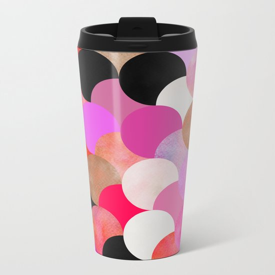 colour + pattern 22 Metal Travel Mug