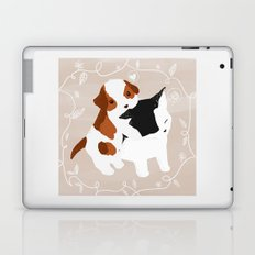 Puppy Cat Relationship Laptop & iPad Skin
