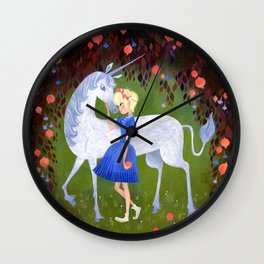 In the Pomegranate Forest Wall Clock