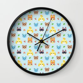 Animal Crossing - Blue Wall Clock