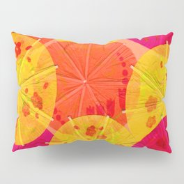 Red Hot Umbrellas Pillow Sham
