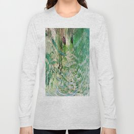 416 - Abstract Colour Design Long Sleeve T-shirt
