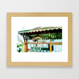 Pretty storefront. Framed Art Print