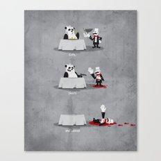 Eating Habits of the Panda Canvas Print