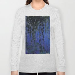 """Claude Monet """"Water Lilies and Weeping Willow Branches"""", 1919 Long Sleeve T-shirt"""