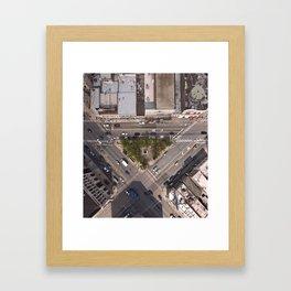 Division Blue Line Framed Art Print