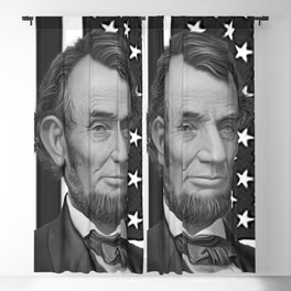 Abraham Lincoln with USA flag Background Blackout Curtain