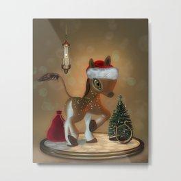 Santas Little Julian Metal Print