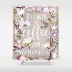Coffee & Concealer – Spring Palette Shower Curtain