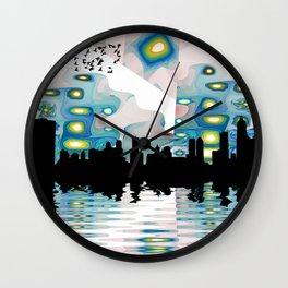 City of Many Suns Wall Clock