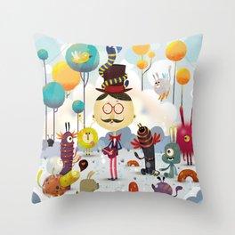 Monsterland / monster Throw Pillow