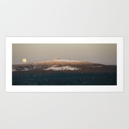 Brockenbahn at full moon Art Print