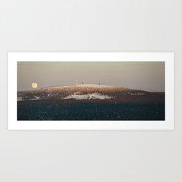 Brockenbahn at full moon Art Print
