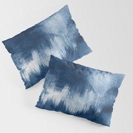 Blue watercolor brush strokes Pillow Sham