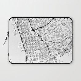 Chula Vista Map, USA - Black and White Laptop Sleeve