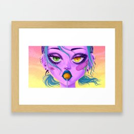 Heavy eyes Framed Art Print