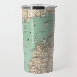 Vintage Map of Michigan (1888) Travel Mug