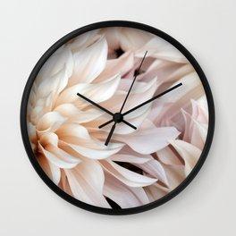 Cafe Au Lait #4 - Modern Floral Photograph Wall Clock