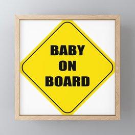 Baby On Board impact Framed Mini Art Print